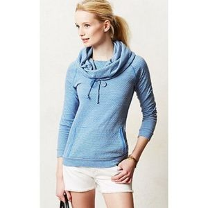 Sol Angeles Anthro Striped Funnel Neck Pullover